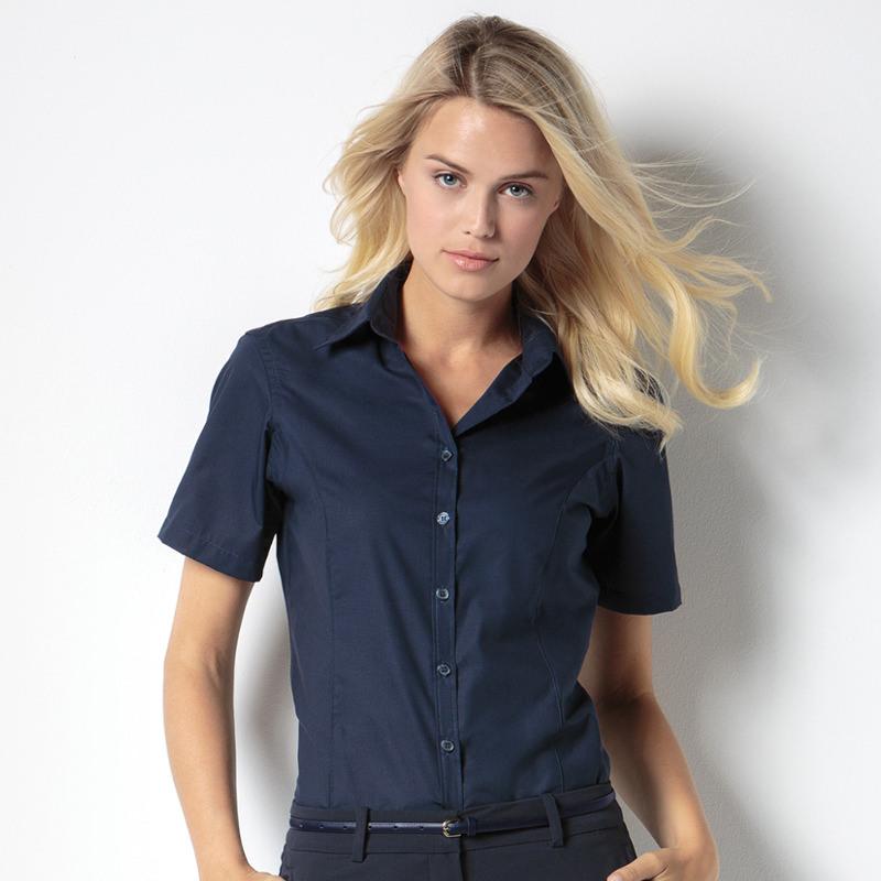 Kustom Kit Short Sleeve Business Blouse Kk742