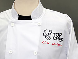 custom embroidered chefswear