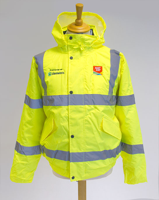 hi viz jacket embroidered