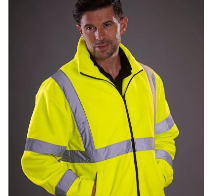 Hi vis heavyweight fleece jacket (YK042)