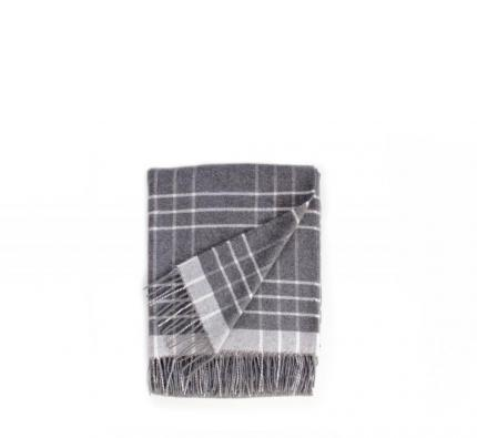 Touch of Cashmere Blanket - Dark Grey and White
