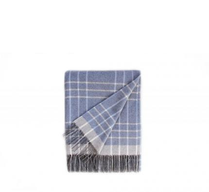 Touch of Cashmere Blanket - Light Blue and Grey