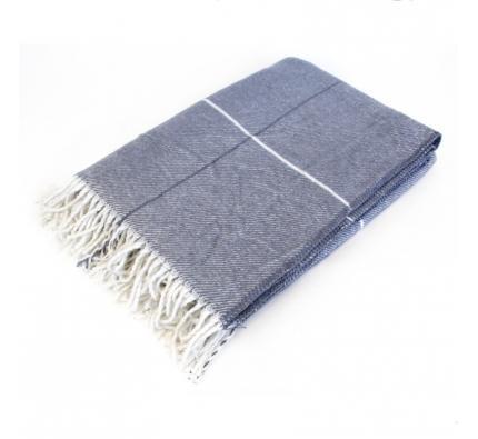 Cotton Blanket - Slate Blue