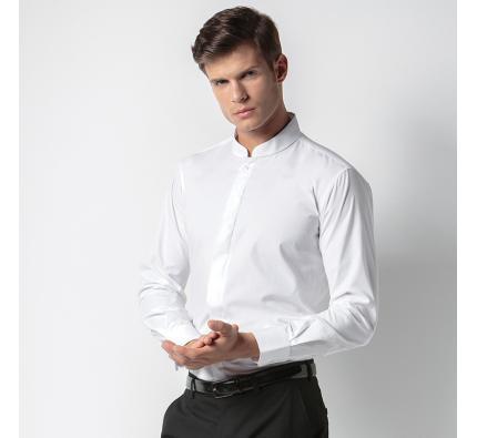 Kustom Kit Long Sleeve Mandarin Collar Shirt (KK161)