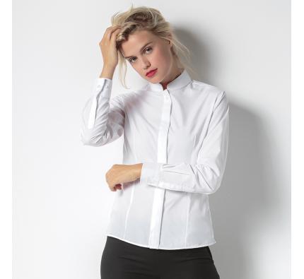 Kustom Kit Long Sleeve Women's Mandarin Collar Shirt (KK261)