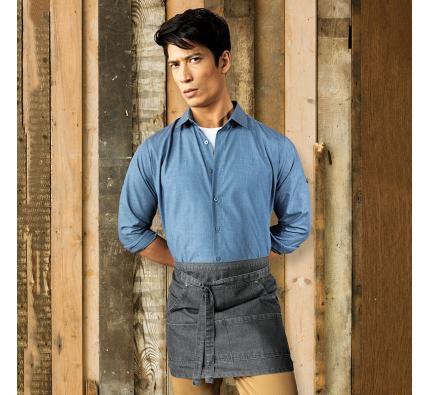 Premier Poplin Cross Dye Roll Sleeve Shirt (PR217)