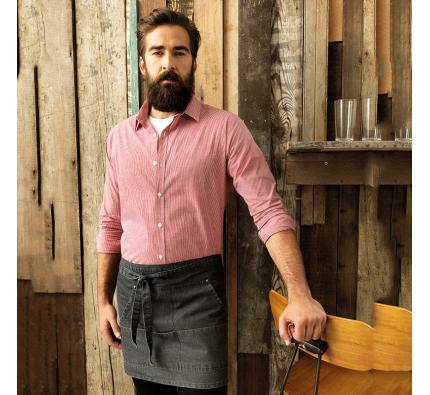 Premier Microcheck Long Sleeve Cotton Shirt (PR220)