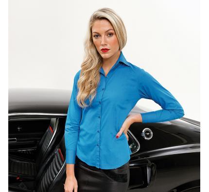 Premier Long Sleeve Women's Poplin Blouse (PR300)