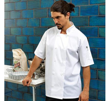 Premier Short Sleeve Chef's Jacket (PR656)