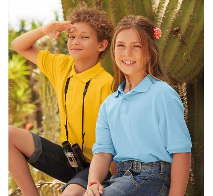 Fruit of the Loom Kids 65/35 Pique Polo Shirt (SS417)