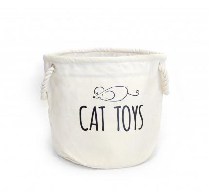 Printed Cat Toy Basket