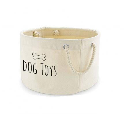 Medium Printed Dog Toy Basket