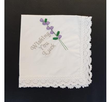 Cotton Handkerchief - Wishing You Luck