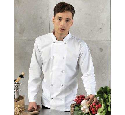 Studded Long Sleeve Chef's Jacket (PR665)