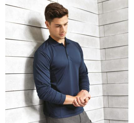 Premier Coolchecker Long Sleeve Polo (PR617)