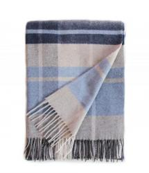 Touch of Cashmere Blanket - Navy, Light Blue and Grey