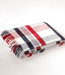 Cotton Blanket - Red and Navy Check