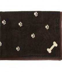 Dog Blanket - Brown and Cream Reversible