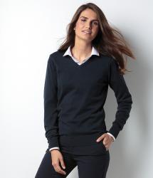Kustom Kit Womens Arunded V Neck Sweater (KK353)