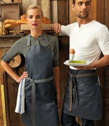 Premier Waxed Look Denim Bib/Waist Apron (PR134/135)