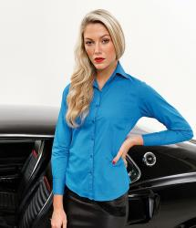 Premier Long Sleeve Women's Poplin Blouse (PR300)