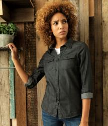 Premier Women's Jean Stitch Denim Shirt (PR322)