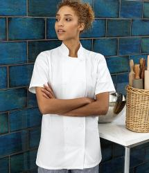 Premier Womens Short Sleeve Chef's Jacket (PR670)