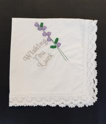 Cotton Handkerchief - Wishing You Luck